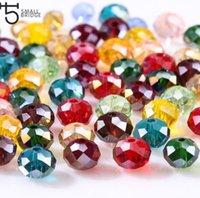 4 6 cristallo di Rondelle borda 8 millimetri Repubblica allentati per monili che fanno Diy Needlework AB colori sfaccettato distanziatore di vetro Perline all'ingrosso