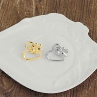 Silver Gold cuore di amore di Zampa Pin del risvolto Pet Paw Print perdita Pet e gioielli Pet Memorial Pins Dog Cat Lover Gifts HN79 all'ingrosso