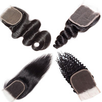 Body Wave Cheveux Brésiliens Tisse 4x4 Fermeture Extensions de Cheveux Humains Sans Bonne Qualité Bon Pas Cher Vison Brésilien Corps Profond Droite Lâche Fermeture