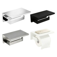 Espejo Negro Cromo PolishedWhite acero inoxidable cepillado soporte de papel higiénico Top colocar las cosas de la plataforma 4 opciones