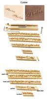 Logotipo personalizado del alfabeto DIY regalo de logotipo caliente de latón del molde del molde de estampación personalizada aduana de la torta de madera de cuero Branding Iron