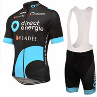 New Direct Energie Team transpirable Ciclismo Jersey set Hombres MTB Bike racing ropa deportiva Verano Manga Corta Bicicleta de Carretera Wear Y041005