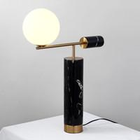 Mode Europe Marbre Chevet Éclairage Lampe De Table De Bureau Pour La Maison Décoration Chambre Plaqué En Métal + abat-jour
