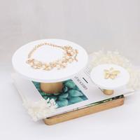 [DDisplay] Jewelry Display Squisito WhiteGold pendente della resina del vassoio personalizzato gioielli titolare del braccialetto dell'esposizione delicato banco di mostra
