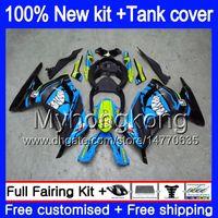 Injectie voor Kawasaki ZX3R EX300 2013 2014 2015 2016 2017 Shark Blue 202My.71 ZX 300R ZX-300R ZX-3R EX300R ZX300R 13 14 15 16 17 Kuip