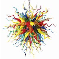 Лампы Tropical Art Multicolor шарики Lamp 100% Mouth выдувного муранского стекла Стиль Люстра Освещение