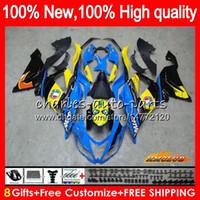 Corps OEM pour KAWASAKI ZX 6 R 636 600CC ZX600 ZX6R 33HC.127 ZX636 ZX636 ZX6R 09 10 11 12 ZX 6R 2009 2010 2011 2012 Carénage kit requin bleu