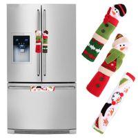 3pcs Kühlschrank Griffblenden Weihnachten Mikrowelle Geschirrspüler Tuergriffabdeckung Weihnachtsdekorationen für Haus 10 * 24cm
