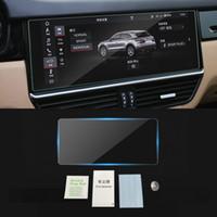 Porsche Cayenne için 9ya 2017-2019 Oto Navigasyon Dashboard Monitör Ekran Koruyucu Temperli Cam Film Sticker Aksesuarları