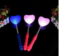 Bastoni bagliore di luce della stella di amore del cuore di fiore bacchetta lampeggiante LED lampeggiante Stick bambini Bambina Light Up Toy Party concerto Novetly Led Giocattoli