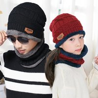 BINGYUANHAOXUAN Winter Hat Warmer Neck Scarf Knitted Cap Win...