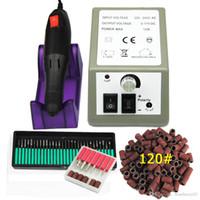 """Toptan profesyonel Elektrikli tırnak Matkap makinesi seti Nail Art dosya 36 bit 120 """" zımpara bandı Akrilik Nail Art Ekipmanları aracı kesici kiti"""