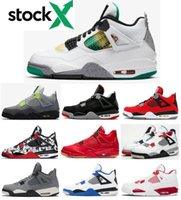 New 4 Rasta Jamaica Carnival Men Women Basketball Shoes 4s N...