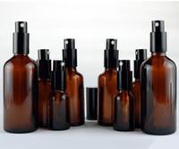15 ml 30ml 50ml 100ml vetro ambra in vetro essenziale olio di olio bottiglie nebbia spruzzatore contenitore viaggio bottiglia riutilizzabile trasparente marrone blu chiaro