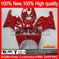 Body For KAWASAKI glossy red ZX- 7R ZX750 ZX 7R ZX- 750 ZX 7 R...