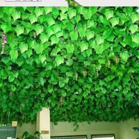 2018 INS vente chaude Longues Plantes Artificielles Vert Lierre Feuilles Artificielle Escalade Tigre De Vigne Faux Feuillage Feuilles De Mariage Décor À La Maison