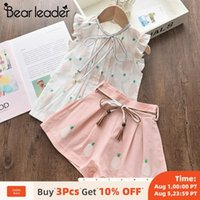 Bear Leader Girls Clothing Sets 2020 New Summer Kids Fruits Print T-shirt and Pants 2Pcs Outfits Girl Bowtie Children Suits 3 7Y