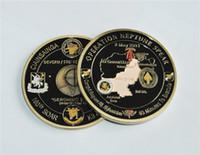 SEAL Team STEIGEN 6 Navy 24k Goldmünze überzogen, Großverkauf Betrieb NEPTUNE SPEAR 160. Herausforderungs-Münze