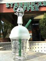 Günstige Starbuck Bongs mini Starbucks Cup Glasbongs sandgestrahltem Glas Rohre für Öl Raucher Rigs Glas Wasser Bongs und Nagel Huka
