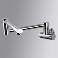 Folding Stretch Kitchen Sink Faucet Wall Mount Single Handle...