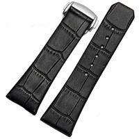 En cuir véritable bande de montre pour Omega série Bracelet Bracelet 23mm avec fermoir en argent
