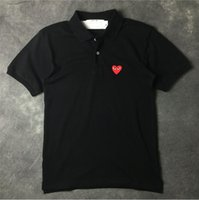 Italian &#ersace designer polo shirt brand red heart embroid...
