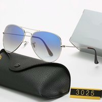 2020 Neue Marke Polarisierte Sonnenbrille Männer Frauen Pilot Sonnenbrille UV400 Eyewear Design Treiber Brille Metallrahmen Polaroidobjektiv