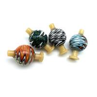 ABD Renkler 28OD Peruk Wag Cam Kabarcık Carb Cap Ile Taşınabilir Cam Renk Ters Carb Kuvars Banger Çivi Cam Sigara için Caps