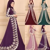 Müslüman Ortadoğu etnik uzun etek dantel dikiş ince elbise Dubai Türkiye Arap Katar BAE Ramazan İslam Giyim