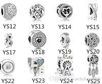 S925 Bead de prata esterlina se encaixa Pandora pulseira para jóias Faça Dreamcatc Crystal Dangle Beads Charms for European Snake Chain Fashion 2019