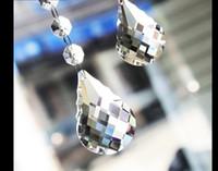 Spedizione gratuita 50 millimetri Dimensioni Clear Color 20pieces / lot K9 Crystal Prism ciondolo di cristallo K9 Lampada Parte K9 100% garantito