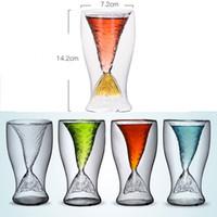 Nixeendstück transparentes Glas 80ML 4 Farben-Fisch-Endstück Kreative Weingläser Party Bar Cup OOA7249