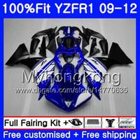 Injection Pour YAMAHA YZF 1000 R 1 YZF-1000 YZFR1 Stock bleu chaud 09 10 11 12 241HM.23 YZF R1 YZF1000 YZF-R1 2009 2010 2011 2012 Kit de carénage