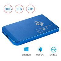 Portable 2 To 1 To 500 Go 2,5 pouces USB 3.0 disque dur externe HDD SATA III disque dur mobile HD pour PC de bureau d'ordinateur portable