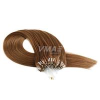 Top Grade Loop Hair 1g / Strand 100g / Packung gerade menschlicher Micro Ring Brazilian Fusion Keratin Menschenhaarverlängerungen
