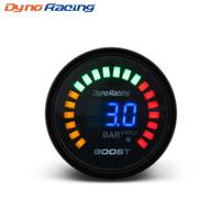 """DYNORACING 2 """"52MM 20 LED Blue Digital -1-3 Bar 12 V 20LED Turbo Zwiększenie licznika samochodów z czujnikiem BX101450"""
