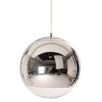 Lambanın Asma Modern Cam Topu kolye LED Işık Küresel Şeffaf Sarkıt Tek Delik Kaplama Hanglamp Yatak salonu