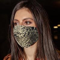 3D-Leopard druckte Gesichtsmaske Frauen-Sommer-Sunproof Staubdichtes Anti-Fog-Haze Masken Mundschutz Unisex atmungsaktiv Waschbar Respirator 5 Farben