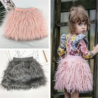 아기 패션 의류 아동 의류 Autume 겨울 새로운 아기 소녀 공주 스커트 모조 양털 양털 스커트 목화 어린이 의류