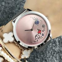 Relógio de pulso da marca de moda para mulheres estilo de flor de flor de flor de metal de metal relógios de quartzo Tom 27