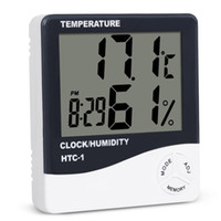 Цифровой ЖК-дисплей температура гигрометр часы влажность метр термометр с часами календарь будильник HTC-1 Бесплатная доставка WB1298