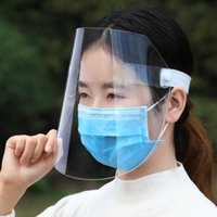 Unisex-Workshop Kochen Putzen Gesichtsschutzschild klares Visier Flip Up transparente Maske Anti Splash Elastic Band Full Face Abdeckung X42FZ
