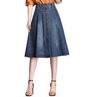 Elegant fashionable halflength skirt with single button and ...