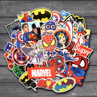 NEUE 50 Teile / los Aufkleber Für MARVEL Super Hero DC Für Auto Laptop Notebook Aufkleber Kühlschrank Skateboard Batman Superman Hulk Iron Man