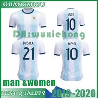 2019 2020 Argentina MESSI DYBALA man and women Soccer Jersey...