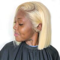Königin 13x6 613 Blonde brasilianischen gerade Menschenhaar-Bob-Perücken Short Ombre Bob Lace Front Perücken für schwarze Frauen