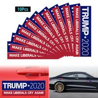10pcs / satz Donald Trump Auto Aufkleber Banner Flaggen Autoaufkleber Halten Sie Amerika Großartige Aufkleber zum Styling Fahrzeug Paster 7.6 * 22.9cm