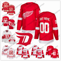 dd99d242b 2019 Detroit Red Wings White Third Hockey Jersey 26 Thomas Vanek 35 Jimmy  Howard 39 Anthony Mantha 45 Jonathan Bernier 74 Madison Bowey