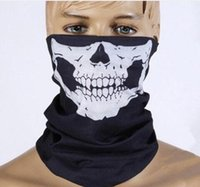 Cráneo de Halloween Máscaras de la cara Esqueleto Magic Skull Bufandas de deportes al aire libre Cuello Cuello Ghost Diadema Ciclismo Motocicleta Bandanas K4502