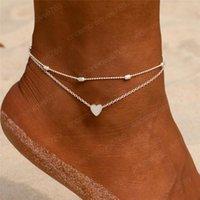 Yeni Kadın Kız Bilezik Halhal Vintage Gümüş Altın Renk Çok Katlı Zinciri Halhallar Boho Yaz Barefoot Halhal Takı